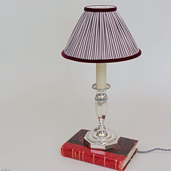Lampe en bronze argenté