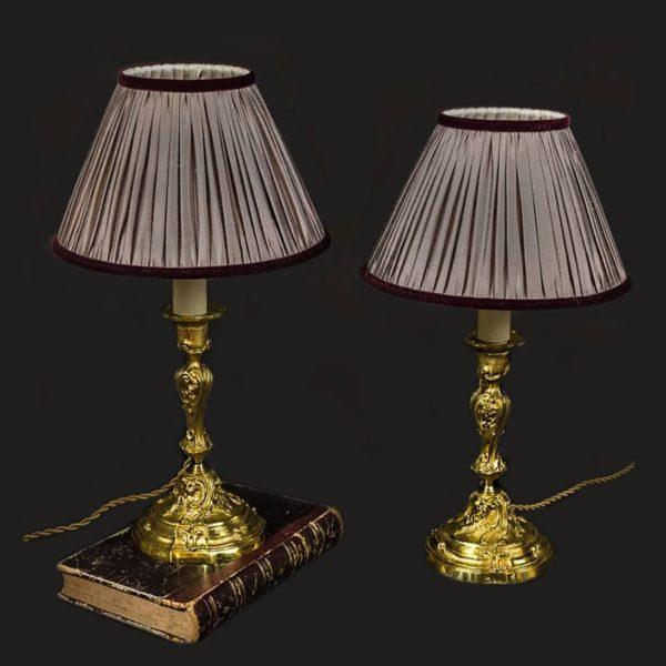 Chandeliers en bronze doré