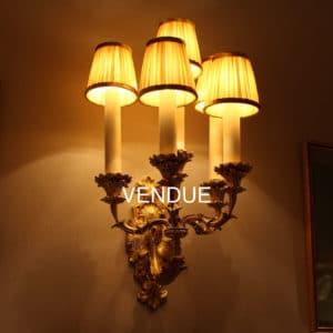 Applique en bronze style Louis XV