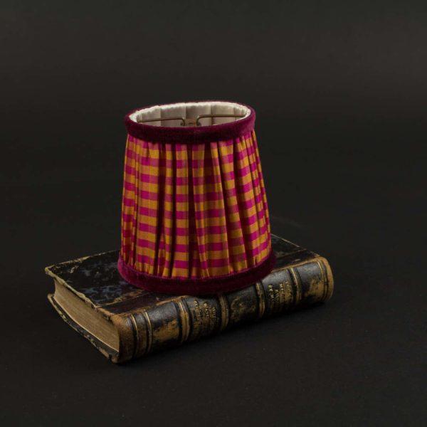Abat-jour couture en soie