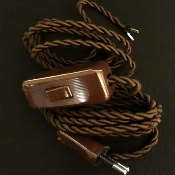 cordon-electrique-en-tissu-marron