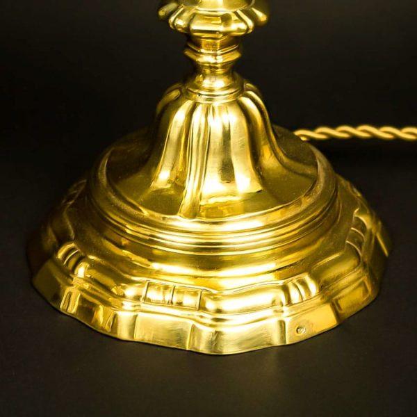 Base d'un bougeoir en bronze Louis XV