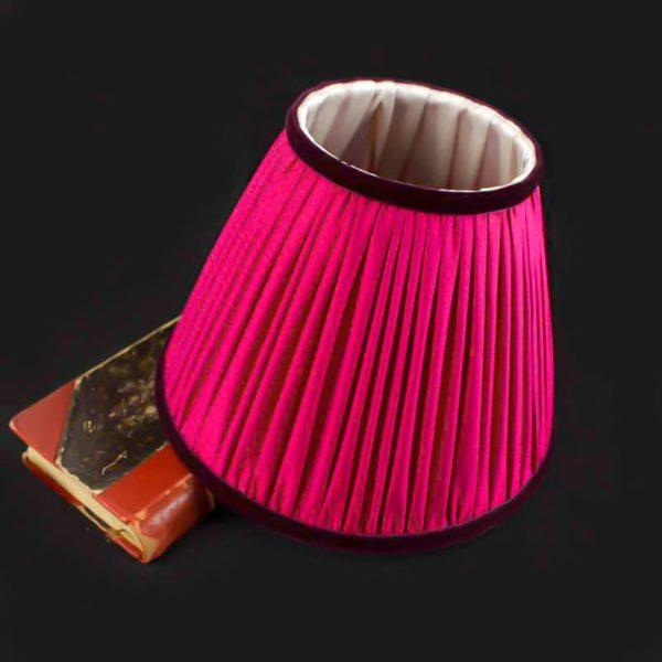 Abat-jour-en-soie-de-couleur-rose-indien