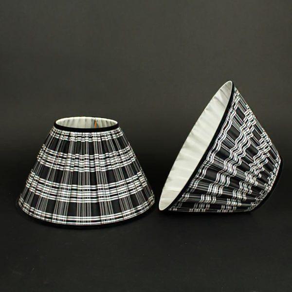 abat-jour-en-soie-a-carreaux-eccossais-noir-et-blanc