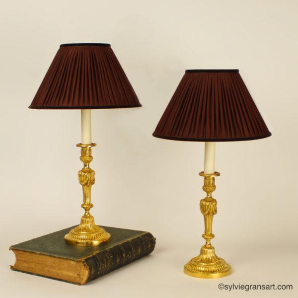 Bougeoirs-chandeliers-Louis-XVI